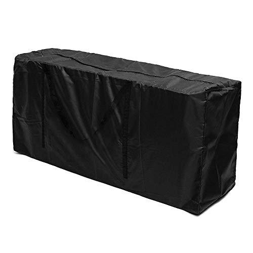 Funda de almacenamiento para cojines de jardín, funda con asa y cremallera, para guardar el árbol de Navidad, ropa acolchada, color negro, 173 x 76 x 51 cm