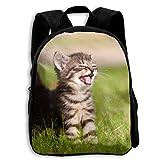 ADGBag Children Boys Girls Happy Kitten Backpack Shoulder Bag Book Scholl Travel Backpack Mochila para niños