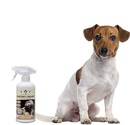 Linea 101 Disabituante Repellente Spray Naturale e Vegetale - con Azione Igienizzante, per Cani e Gatti, 500ml