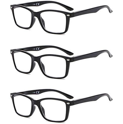 Suertree Feder Scharnier (3 Pack) Lesebrillen Sehhilfe Augenoptik Brille Lesehilfe für Damen Herren von 2.5X BM151