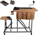 Timber Ridge Magnum Precision Portable Shooting Bench Seat with Table Gun Rest, Shot Bag a...