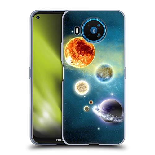 Head Case Designs Licenciado Oficialmente Simone Gatterwe Nuevo Sistema Solar Planetas Carcasa de Gel de Silicona Compatible con Nokia 8.3 5G