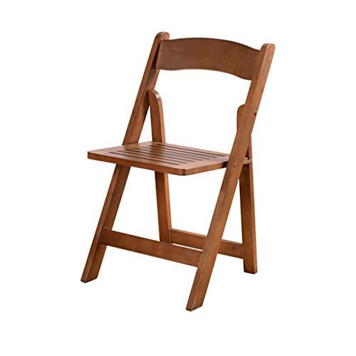 MKJYDM Tabouret Simple Chaise D'ordinateur De Loisirs Chaise Pliante en Bois Massif De Loisirs avec du Thé Dossier (45,5 * 44,5 * 78cm) Chaise Pliante (Color : Brown)