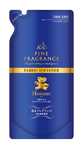 【まとめ買い】ファーファ ファインフレグランス オム つめかえ用 500ml×16個セット 柔軟剤 ダージリンティーとベルガモット、透明感あふれるウォータリーフローラルが融合したエレガントかつ洗練された香り