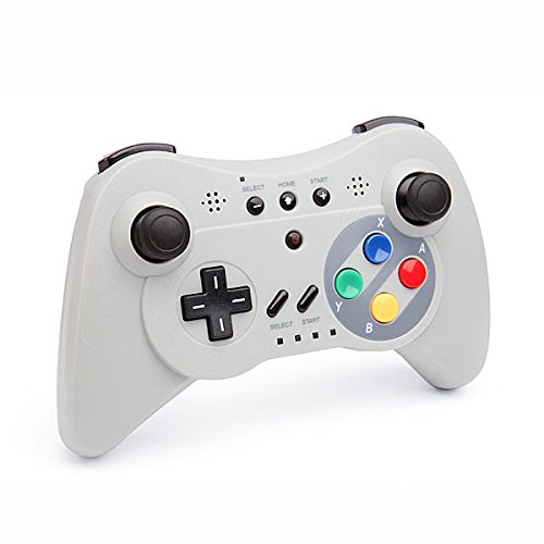 QUMOX Controller Game Controller Portable Wireless Bluetooth Gamepad for Nintendo Wii U Console, Gray