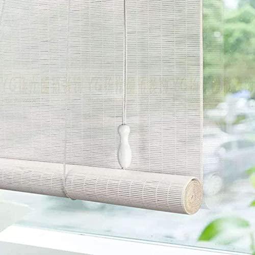 Ciega de rodillo de ventana natural, cortina de la puerta de bambú, aislamiento térmico de sombrilla cortinas romanas, decoración de la partición de privacidad, obturador con levantador, persianas de