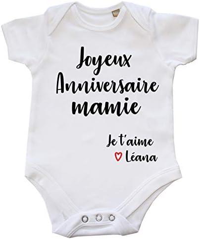 Personnalisé Joyeux Anniversaire Mamie Garçons Filles Bébé Grow Sleepsuit