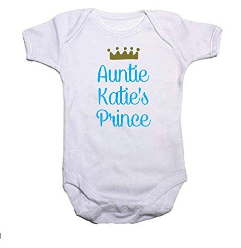 personnalisé Prince et couronne garçons Body bébé/Gilet Cadeau de Baby Shower ajouter n'importe quel nom - Blanc - 3 mois