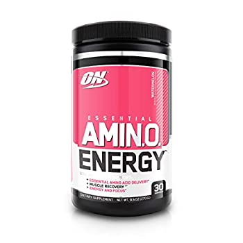 Optimum Nutrition Amino Energy - Pre Workout with Green Tea BCAA Amino Acids Keto Friendly Green Coffee Extract Energy Powder - Watermelon 30 Servings