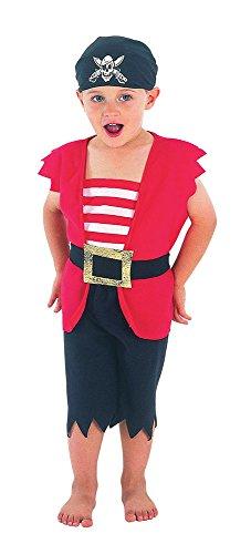 Bristol Novelty CC009 Pirate Boy Toddler Costume, Black, X-Small