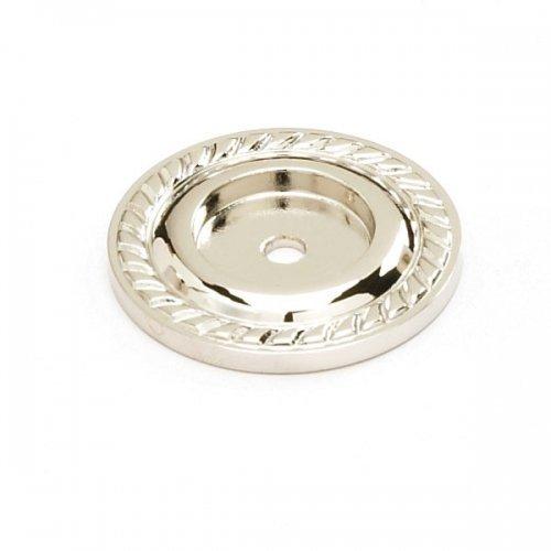 Schaub & Co. 795-PN Montcalm 1 1/2 Knob Backplate - Polished Nickel by Schaub