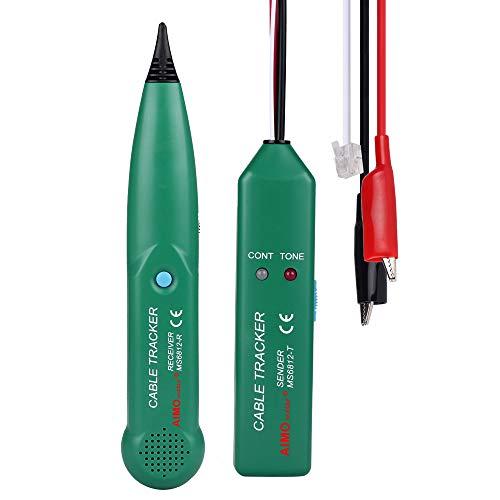 Kabeltester KKmoon Line Finder Handheld Tracker Multifunktionskabel Check Wire Messgerät für Netzwerk Wartung Collation, Telefonleitungstest, Kontinuitätsprüfung LAN Netzwerkkabel Tester
