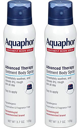 Aquaphor Ointment Body Spray - Moisturizes and Heals Dry, Rough Skin - 3.7 oz. Spray Can, 2 Pack