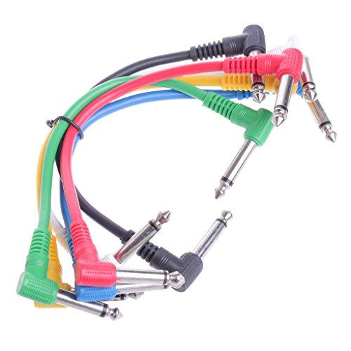 siwetg Set kleurrijke hoekstekkers kabel voor gitaarpedaal