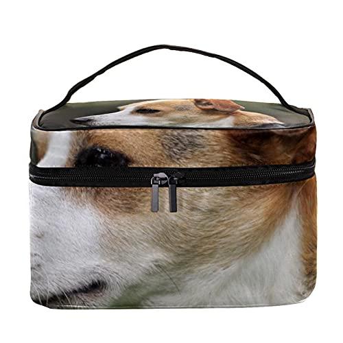 Patrón de perro embrague monedero 8 x 5.9 x 5.4 pulgadas bolsa de maquillaje bolsa monedero bolsa cosméticos organizador