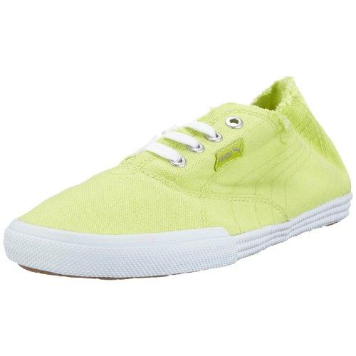 Puma 350935 13 Tekkies Brites, Unisex - Erwachsene Sneaker, Gelb (wild lime-white), EU 38.5, (UK 5.5)
