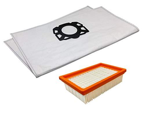 10 Staubsaugerbeutel + 1 Hepa-Filter im Set universal für Kärcher 2.863-006.0 und 2.863-005.0 passend für MV4, MV5, MV6, WD5