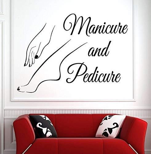 42X30Cm Vinyle Mur Fenêtre Decal Nail Art Polonais Wall Sticker Beauté Salon Manucure Pédicure Mur Art Mural Nail Salon Décoration