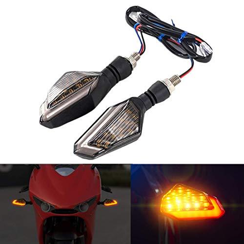 FEZZ LED Blinker Motorrad, LED Bremslicht Motorrad, Packung mit 2 (Bernstein+Rot)