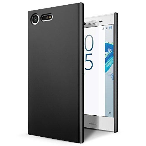SLEO Hülle Kompatibel für Sony Xperia X Compact Hülle,Ultra Dünn Schutzhülle [Anti-Fingerabdrücke] [Anti-Scratch] Harte PC Handyhülle Tasche Schale Hardcase - Schwarz