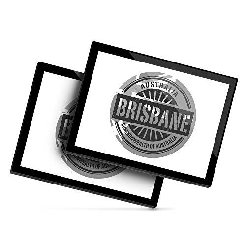 Destination 40705 - Mantel individual de vinilo (20 x 25 cm), diseño de Brisbane Australia