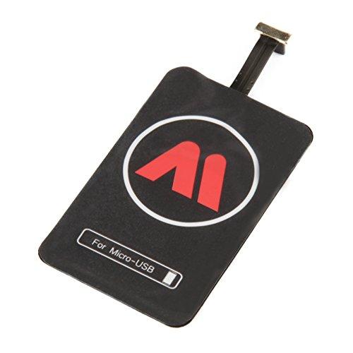 Maxfield Universale Qi Ricarica Adattatore per Smartphone con Micro USB di sopra Porta Wireless Charging Receiver