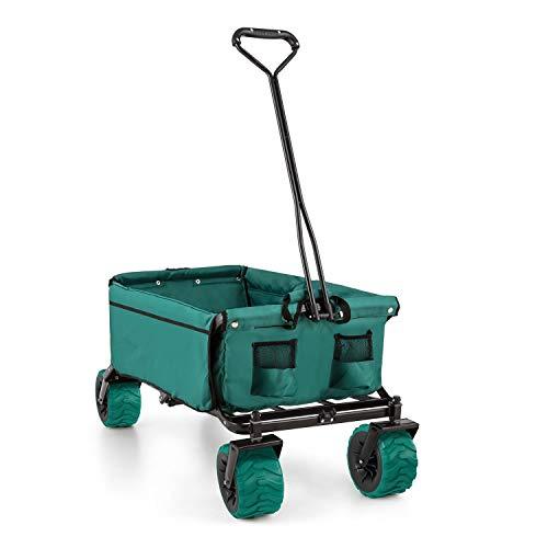 Waldbeck The Green Bollerwagen 70 kg Belastbarkeit PU-Kunststoffräder grün