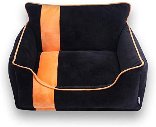 Ultrazacht hondenbed, duurzaam hondenbed, huisdierbed, wasbaar, nest voor huisdieren, bank voor huisdieren, hondenmand, voor middelgrote honden, 2 kleuren (kleur: zwart, maat: M (50 x 42 x 32 cm), S(47x35x28cm), Zwart