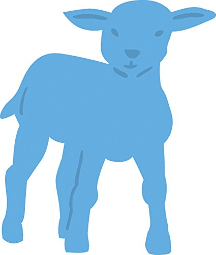 Marianne Design Creatables Kleines Schaf - Stanzschablone und Prägeschablone für die Kartengestaltung und Scrapbooking, Metal, Blue, 4 x 4.7 x 0.4 cm