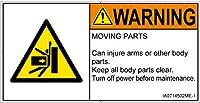 警告ラベル.com PL警告ラベル IA0714502 押しつぶし:英語 Mサイズ 10枚入 IA0714502ME-1