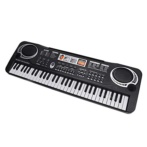 Tastiera elettronica 61 tasti musica con microfono, pianoforte elettrico portatile tastiera digitale per bambini, per principianti, giocattoli regalo di Natale per ragazzo ragazza