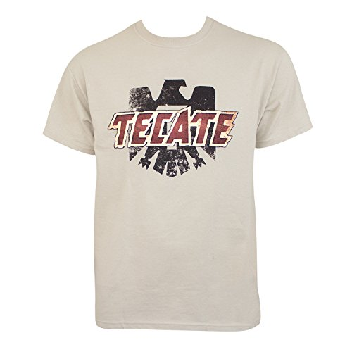 Tecate Logo Tan-T-Shirt Medium