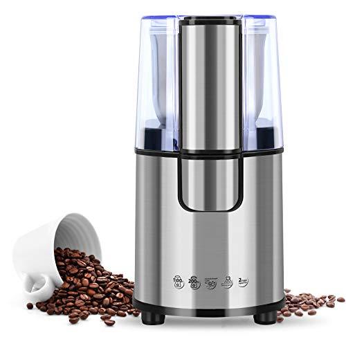 AIQIANXIN 200W Molinillo de Café Eléctrico con Cuchillas de Acero Inoxidable para Hierbas Nueces Pimienta