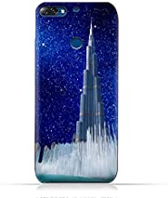 Lenovo K5 Note 2018 TPU Silicone Protective Case with Burj Khalifa and Water Fountain on a Starry Night Design