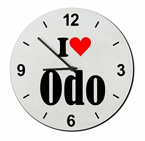 Druckerlebnis24 Glasuhr I Love ODO eine tolle Geschenkidee die von Herzen kommt| Wanduhr| Geschenktipp: Weihnachten Jahrestag Geburtstag Lieblingsmensch