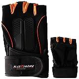 AllExtreme EXOMHG1 Multipurpose Unisex Bike Racing Half Finger Gloves Breathable Comfortable Hand Gloves