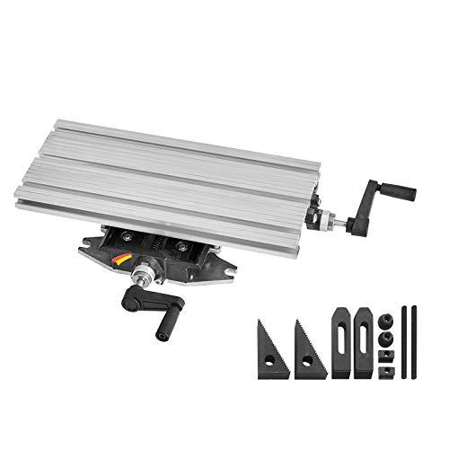 WABECO 2-Achsen Koordinatentisch K400 400 x 180 mm mit Spannpartzen Satz 10-teilig Kreuztisch Bohrtisch für Bohrständer