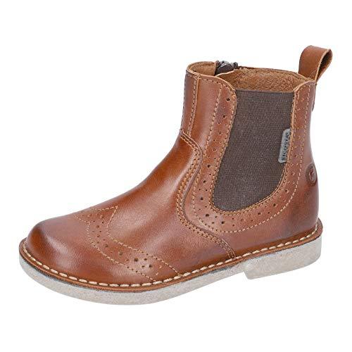 RICOSTA Unisex - Kinder Stiefel Dallas, Weite: Mittel (WMS), Chelsea Boot Kurzstiefel reißverschluss Kids junior Kleinkinder,Cognac,39 EU / 6 UK