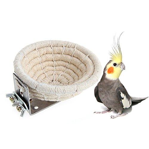 Handgefertigtes Brutnest aus Baumwolle für Vögel, Bett für Wellensittiche, Sittiche, Nymphensittiche, Kanarische Finken, kleine Papageien, Nistkasten