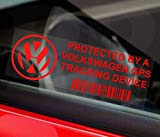 <span class='highlight'>Platinum</span> <span class='highlight'>Place</span> 5 x PPVOLKSWAGENGPSRED GPS RED onto CLEAR Tracking Device Security WINDOW Stickers 87x30mm-Car,Van Alarm Tracker