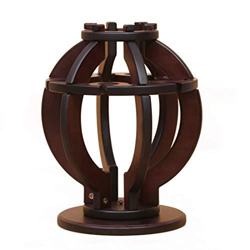 YAeele Produits ménagers en Bois Rotating Lanterne Forme Bouteille Unique Wine Rack (Couleur: Brun)