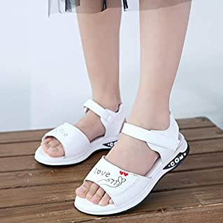 Youpin Zapatos de verano para niñas, sandalias de tacón plano, para niñas y niñas, zapatos de princesa con lazo, zapatos d...
