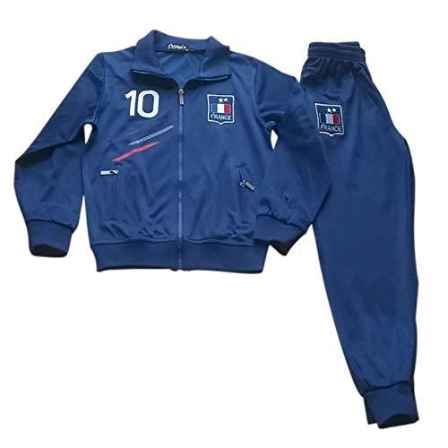 Générique Chándal de fútbol de Francia con 2 Estrellas para niño, Color Azul