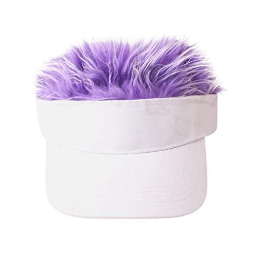 aihihe Novelty Baseball Hat Visor Sun Cap Toupee Wig Hat Funny Golf Caps Baseball Cap for Women Men with Spiked Hairs