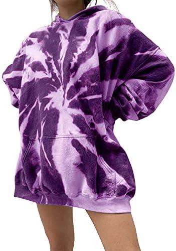 Womens Tie Dye Sweatshirt Hooded Neck Oversized...