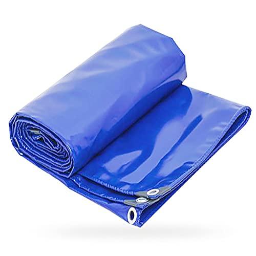 Lona de Jardín Azul Lona Impermeable 2x3m 0.4mm de espesor Toldo de Universal con Ojales 550g/m² Resistente a la Rotura Resistente al nieve para Proteger Barcos Piscina Mueb(Size:5x5m16x16FT,Color:B)