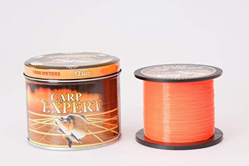 Energofish LINE CARP EXPERT UV Fluo ORANGE 0,35MM 1000M Angelnschnur, Black, 1