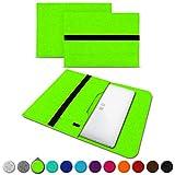 UC-Express Sleeve Hülle kompatibel für Trekstor Primebook C13 / P14 / P13 / P14B Tasche Filz Notebook Cover 13,3-14 Zoll Laptop Hülle, Farben:Grün