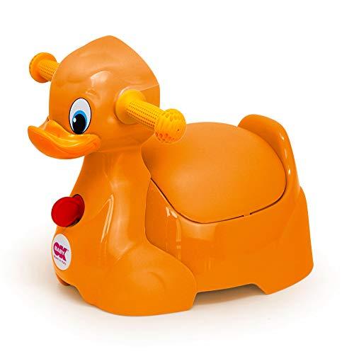 OKBABY Quack - Vasino per Bambini con Seduta Ergonomica, a Forma di Papera - Arancione