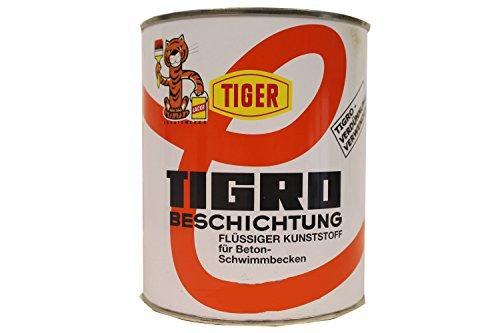 Tiger Tigro Beschichtung flüssiger Kunststoff für Beton- Schwimmbecken Seidenmatt 1 Liter Farbwahl, Farbe:pastellblau